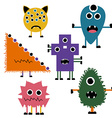 Set of Simply Cute Monsters Icon Set vector image