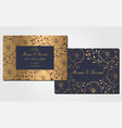 set vintage wedding invitation card vector image vector image