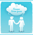 silhouette couple background vector image