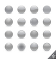 silver buttons vector image vector image