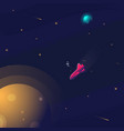 space realistic background with astronaut vector image vector image