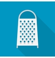 stainless kitchen grater vector image vector image