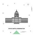 state capital washington vector image