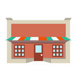 store shop front window building color icon vector image vector image
