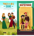 subcultures family cartoon banners vector image