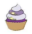sweet cupcake dessert party celebration vector image vector image