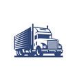 truck logo design template vector image vector image
