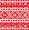 Ukrainian Slavic folk art knitted red and white vector image vector image