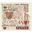 Watercolor coffee poster Typography background vector image vector image