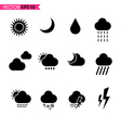 Weather icons set 2 vector image vector image
