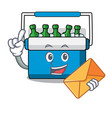 with envelope freezer bag character cartoon vector image