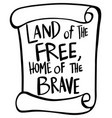 word expression for land of the free home of the vector image vector image