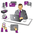 Work at office vector image