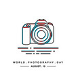 world photography day vector image vector image