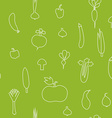 a seamless pattern with vegetables silhou vector image