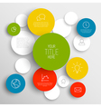 abstract circles infographic template vector image vector image