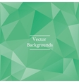 Abstract triangles background in green color vector image