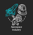 aerospace industry chalk concept icon space