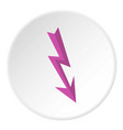 arrow lightning icon circle vector image vector image