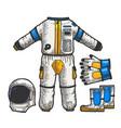 astronaut spacesuit sketch vector image vector image