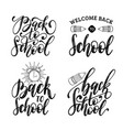 back to school hand lettering prints set vector image vector image