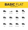 basic set trucks icons vector image vector image
