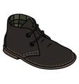 black suede shoe vector image vector image