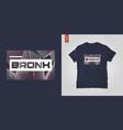 bronx borough abstract geometric t-shirt vector image vector image