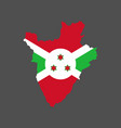 burundi flag and map vector image vector image