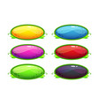 cartoon glossy colorful oval buttons vector image vector image