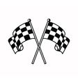 checkered flags icon vector image vector image