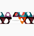 circle and triangle abstract background vector image vector image