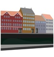 city by the canal vector image vector image
