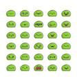 collection kawaii slime monster emoticons vector image