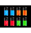 Colorful batteries collection vector image