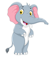 cute elephant cartoon standing vector image vector image