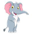 cute elephant cartoon standing vector image vector image