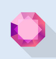 diamond ruby icon flat style vector image vector image
