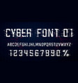 digital font design letters numbers and vector image