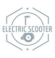 electric scooter logo simple gray style vector image vector image