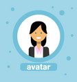 female avatar businesswoman profile icon user vector image