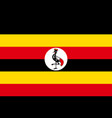 flag of uganda african state vector image vector image
