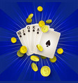 flat royal flush in spades golden coins vector image vector image