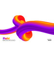 Fluid background abstract colorful shape