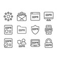 gdpr general data protection regulation icon set vector image vector image