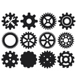 gear collection machine gear vector image vector image