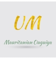 Golden Ouguiya Symbol vector image vector image