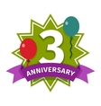 Happy birthday badge icon vector image vector image