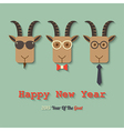 happy new year 2015 year of the goat vector image vector image