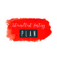 intermittent fasting plan watercolor logo with vector image vector image